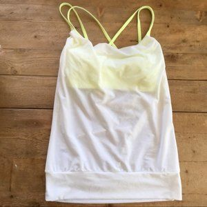 Lucy workout tank with built in sport bra